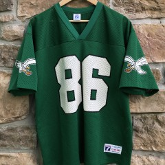 1992 Fred Barnett Philadelphia eagles logo 7 vintage kelly green jersey size large