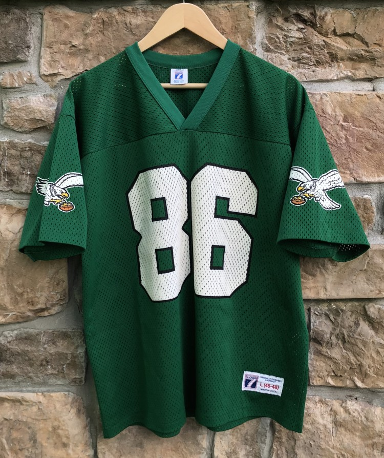 low priced 36bae acf0d 1992 Fred Barnett Philadelphia Eagles Logo 7 NFL Jersey Size Large