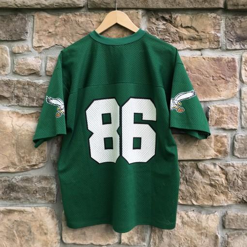 90's Philadelphia Eagles fred barnett logo 7 nfl jersey size large vintage
