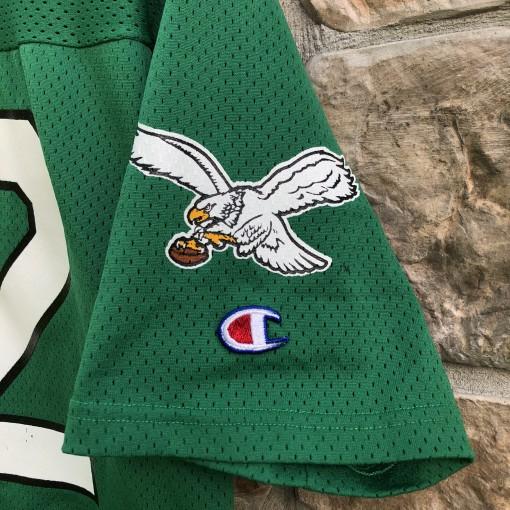 80's Reggie White Philadelphia Eagles kelly green champion NFL jersey size xl large vintage