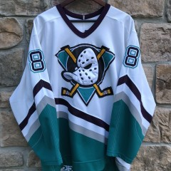 vintage 90's Teemu Selanne Anaheim Mighty Ducks Authentic CCM NHL jersey size 48 XL