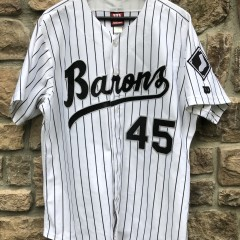 vintage 90's Birmingham Barons Michael Jordan authentic Wilson minor league baseball jersey size 46