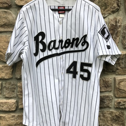 844450150 vintage 90 s Birmingham Barons Michael Jordan authentic Wilson minor league baseball  jersey size 46