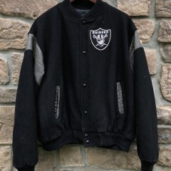 vintage 90's Los Angeles Raiders chalkline NFL varsity jacket size XL