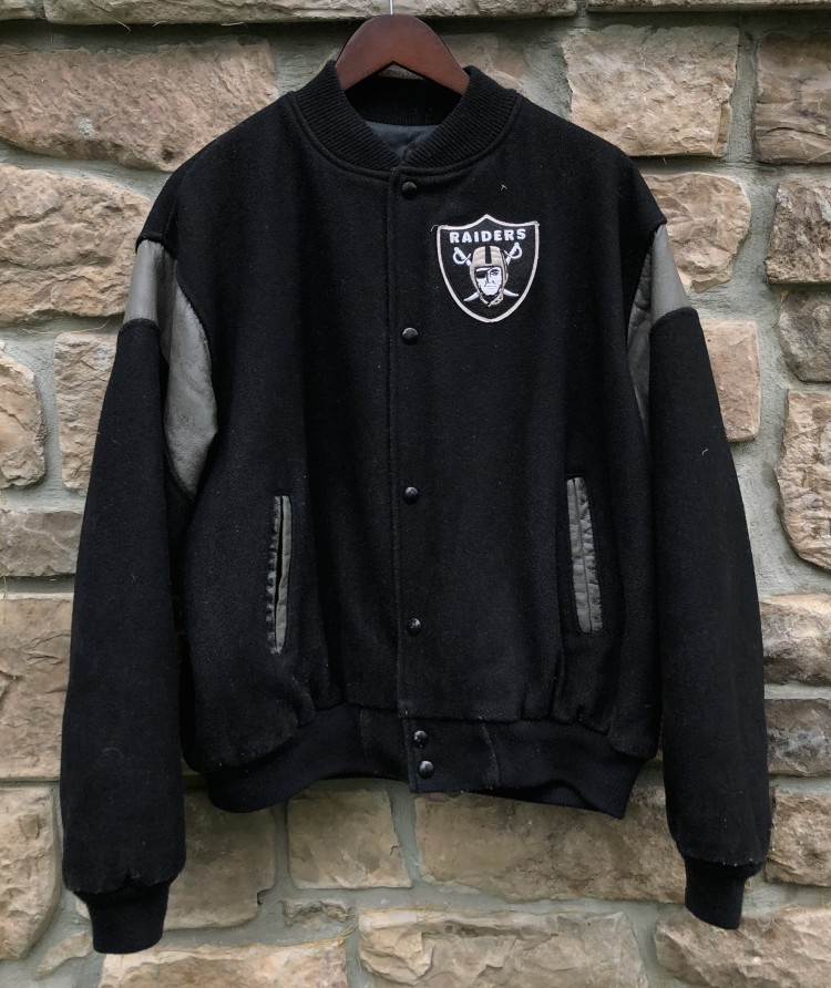 new arrivals 95cb9 8da8a 90's Los Angeles Raiders Chalkline NFL Varsity Jacket Size XL