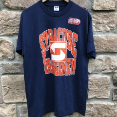 vintage 80's Syracuse Orangemen deadstock t shirt trench size large