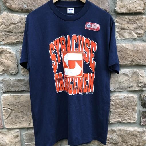 vintage 80's Syracuse Orangemen deadstock t shirt trench size large