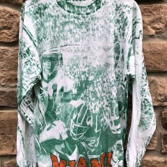 vintage 90's University of Miami Hurricanes all over print long sleeve NCAA t shirt