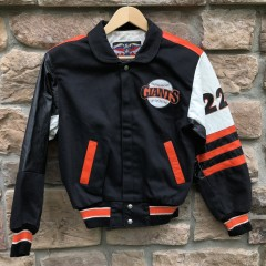 Vintage 90's San Francisco Giants #22 Will Clark Jeff Hamilton leather mlb varsity Jacket