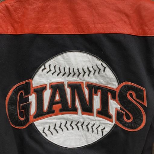 Vintage 90's San Francisco Giants #22 Will Clark Jeff Hamilton leather mlb varsity Jacket