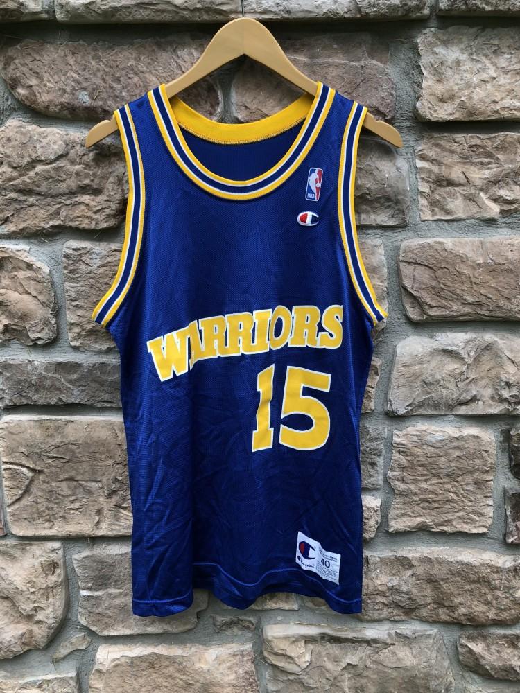vintage 90 s Latrell Sprewell Golden State Warriors Champion NBA Jersey  Size 40 e7b59d3e2