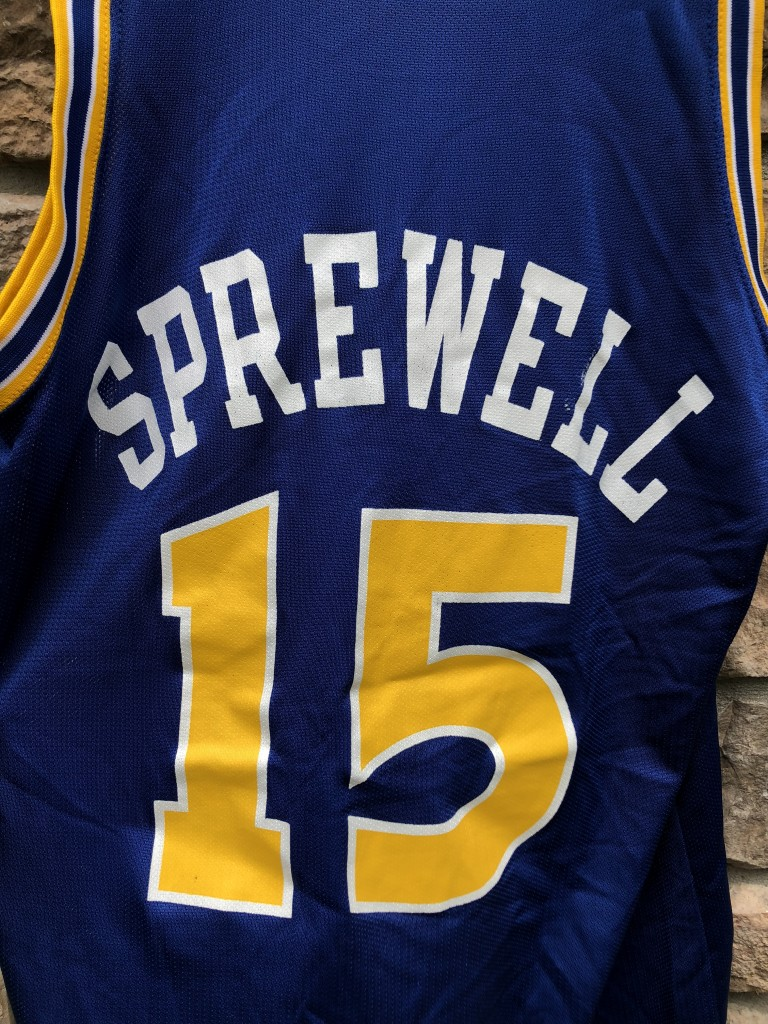 online store b4be1 d84a4 1994 Latrell Sprewell Golden State Warriors Champion NBA Jersey Size 40