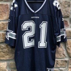 Vintage 90's Deion Sanders Dallas Cowboys Starter NFL Jersey size XXL