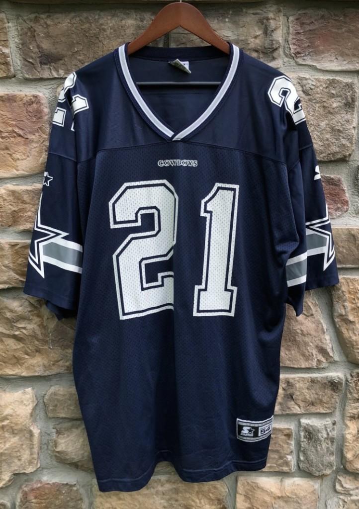 cbeb30114 Vintage 90 s Deion Sanders Dallas Cowboys Starter NFL Jersey size XXL