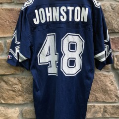 vintage 90's Daryl Johnston Dallas Cowboys Champion NFL Jersey size 44 large