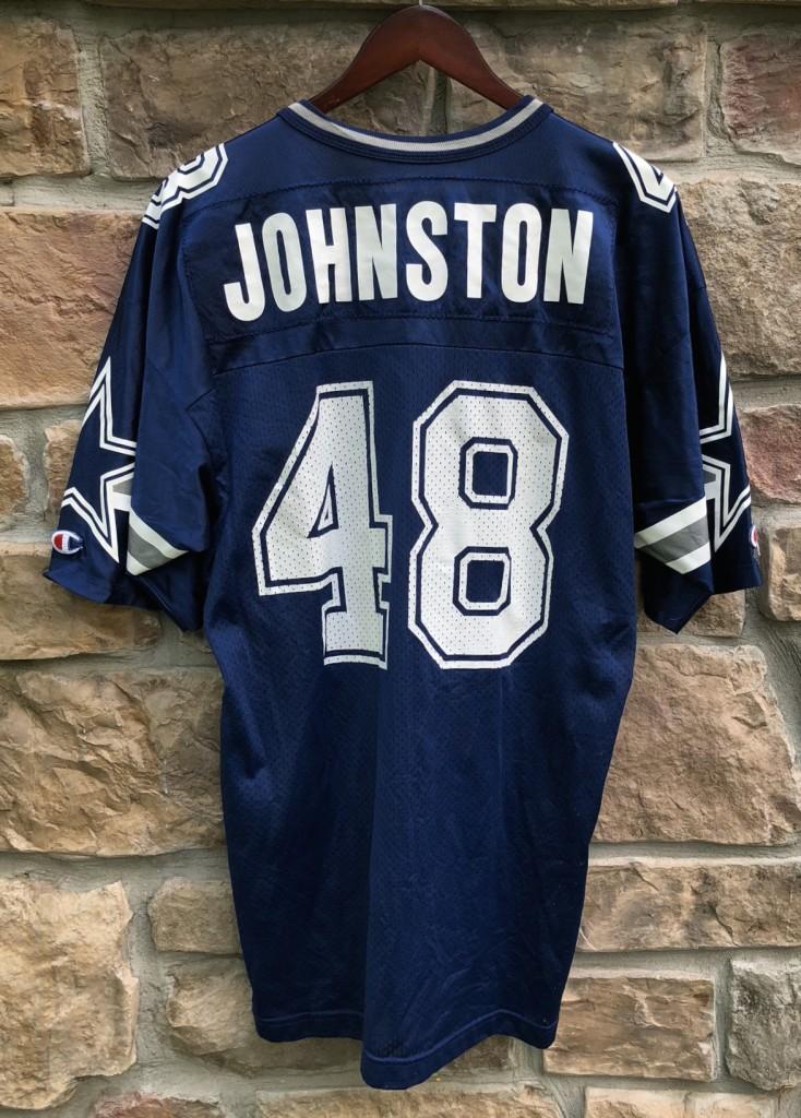 vintage 90 s Daryl Johnston Dallas Cowboys Champion NFL Jersey size 44 large bac9717c7