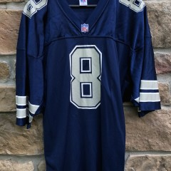 vintage 90s Troy Aikman Dallas Cowboys Russell Authentic NFL jersey size 48 XL