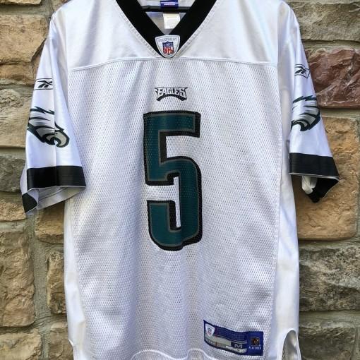 vintage 2004 Philadelphia Eagles Donovan McNab Reebok NFL white jersey size medium