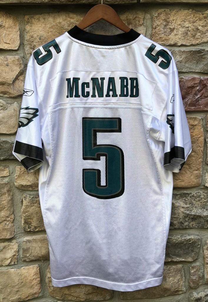 8bc2476c98c vintage 2004 Philadelphia Eagles Donovan McNab Reebok NFL white jersey size  medium