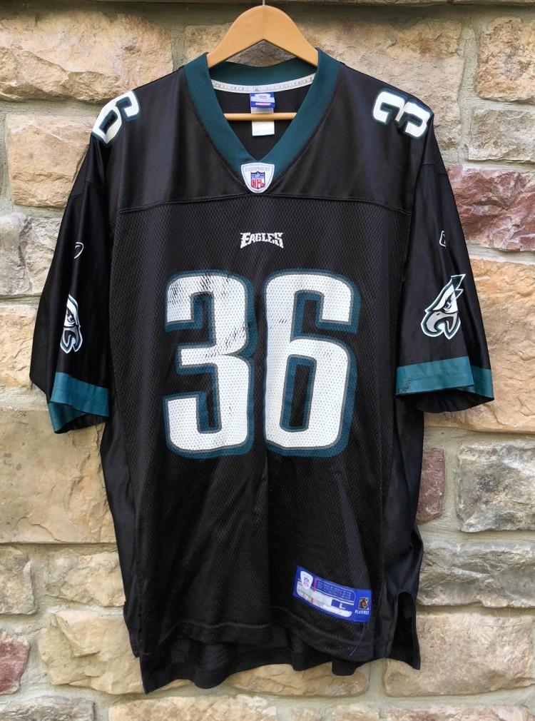 b4c0aac6af0 Vintage 2004 Brian Westbrook Philadelphia eagles Reebok Black NFL alternate jersey  size large