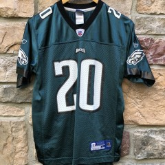 vintage 2004 Brian Dawkins Philadelphia Eagles Reebok NFL Jersey Youth Large