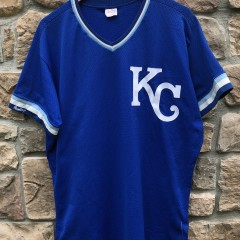 Vintage 80's Bo Jackson Kansas City Royals Authentic Rawlings MLB Jersey size 44 Large