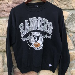 vintage 1990 Los Angeles Raiders Logo 7 NFL crewneck sweatshirt size medium