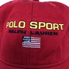 vintage 90's Polo Sport USA classic logo 6 panel dad hat red
