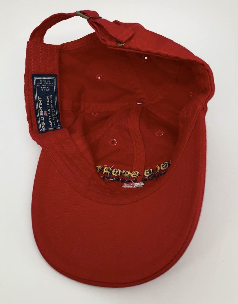 8a7cec653c479 vintage 90 s Polo Sport USA classic logo 6 panel dad hat red