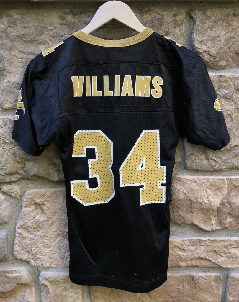 7ef85f7f2 Vintage 90 s Ricky Williams New Orleans Saints Champion NFL jersey youth  size small