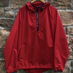 vintage 90's Polo Sport Windbreaker jacket red size XL