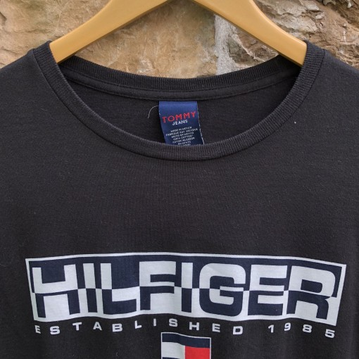 Vintage 90's Tommy Hilfiger Jeans Long Sleeve T shirt  Size medium