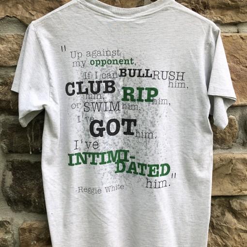 vintage 90's Nike Reggie White Intimidation T Shirt