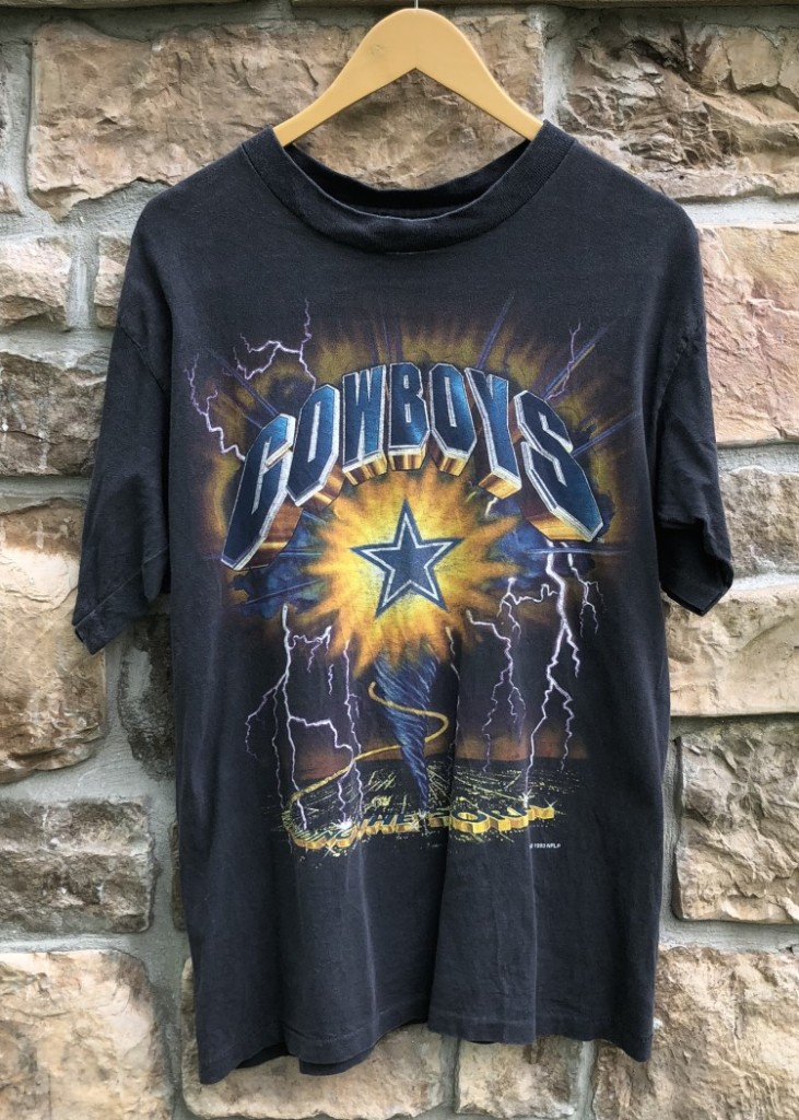 1993 Dallas Cowboys Lightning Bolt NFL T Shirt Size Medium  242a259df
