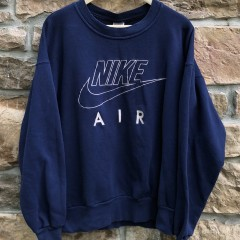 vintage early 90's Nike Air Crewneck Sweatshirt size Large Navy blue