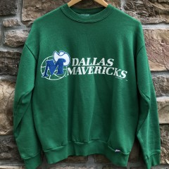vintage 1991 Dallas Mavericks Logo 7 NBA Crewneck sweatshirt size medium