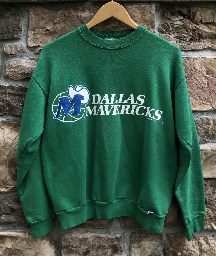 hot sale online 43a45 0f0b1 1991 Dallas Mavericks Logo 7 NBA Crewneck Sweatshirt Size Medium