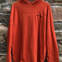 vintage 90's Polo Ralph Lauren Sport orange hooded shirt size large