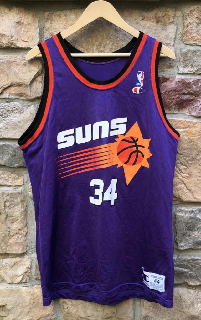 3c0fde89e5ec vintage 90 s Charles Barkley Phoenix Suns Champion NBA jersey size 44 large