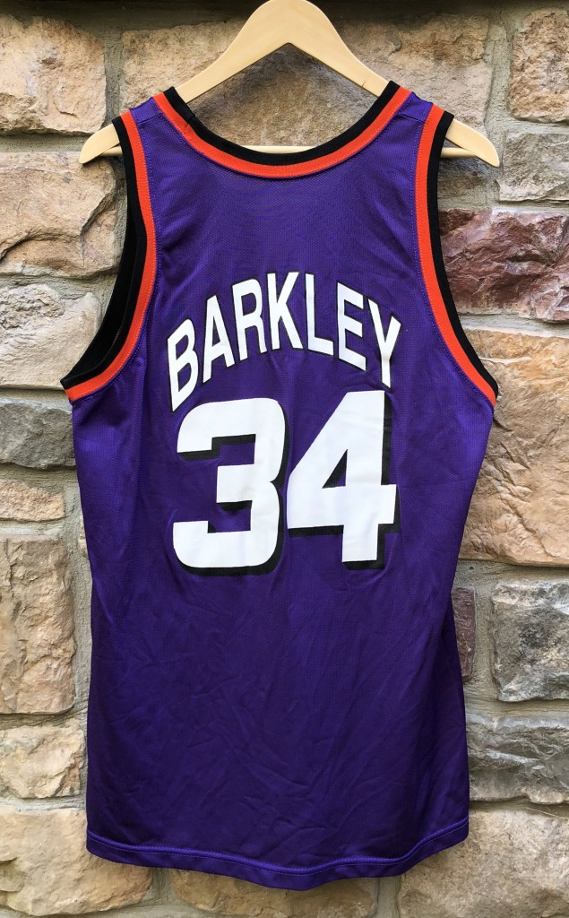 vintage 90 s Charles Barkley Phoenix Suns Champion NBA jersey size 44 large 56d948845