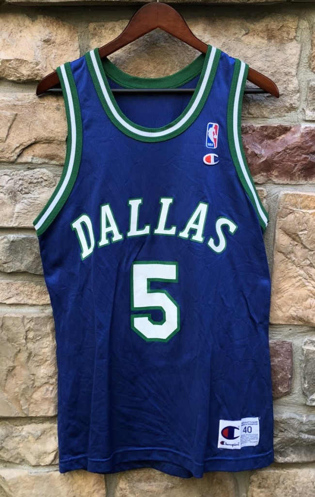 90 s vintage Jason Kidd Dallas Mavericks Champion NBA jersey size 40 73d09840d