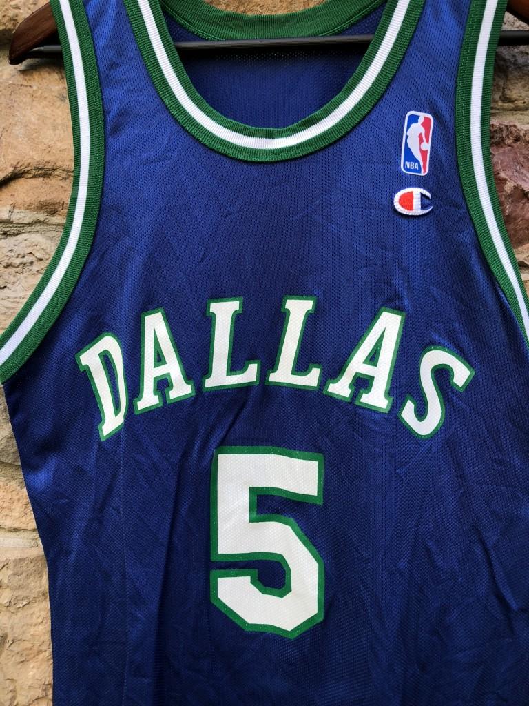 finest selection bc36d d2042 1995 Jason Kidd Dallas Mavericks Champion NBA Jersey Size 40