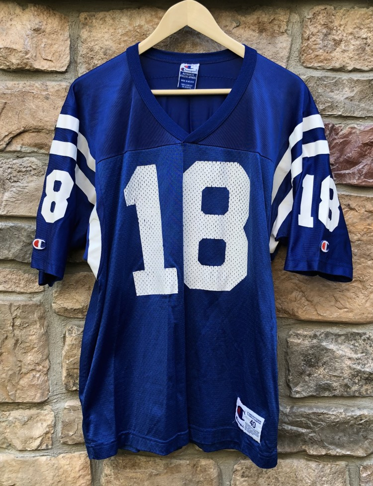 592226a27 vintage 90 s Peyton Manning Indianapolis Colts Champion NFL Jersey size 40  medium
