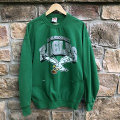 Vintage 90's Philadelphia Eagles Kelly Green NFL Crewneck sweatshirt size large
