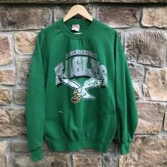 Vintage 90's Philadelphia Eagles Kelly Green NFL Crewneck sweatshirt size large