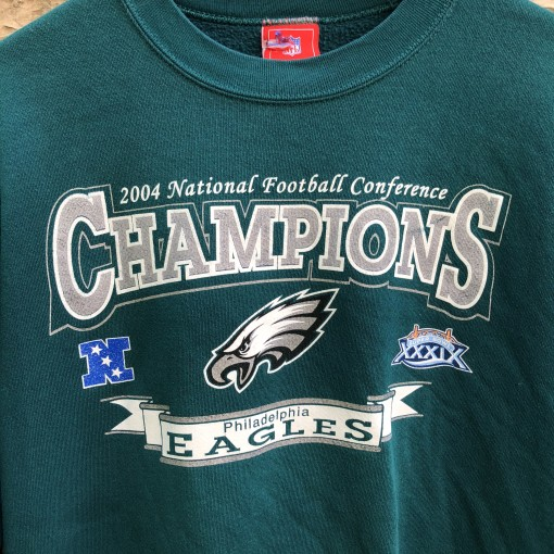 2004 Philadelphia Eagles NFC Champions vinage NFL crewneck sweatshirt size XL