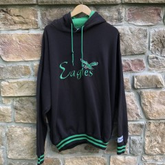 vintage 90's Philadelphia Eagles The Game double hooded nfl sweatshirt hoody size XL