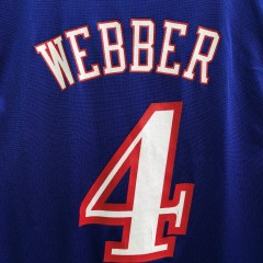 00's Philadelphia Sixers Chris Webber Reebok NBA jersey size large