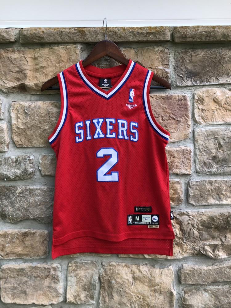 99aa0d43750 ... hot vintage 1982 83 moses malone philadelphia sixers reebok hardwood  classic swingman jersey youth medium 314e8