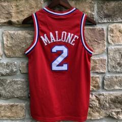 vintage 1982-83 Moses Malone Philadelphia Sixers Reebok hardwood classic swingman jersey youth medium